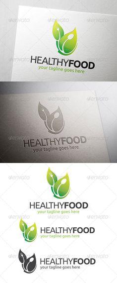 Logotipos para Restaurantes Vegetarianos y Negocios ECO.