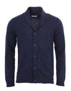 f1c692f4a Selected - Tmavě modrý cardigan s límcem New Bates - 1 Take Care Of  Yourself,