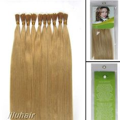 """Silky 16""""18""""20""""22""""24"""" Remy Pre Bonded I Stick Tip Glue Human Hair Extensions   eBay"""
