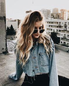 Jean jacket denim jeans summer style fashion fall winter sunglasses sunnies