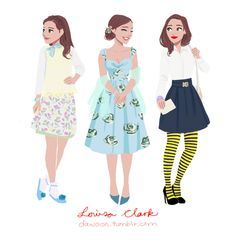 Louisa Clark's outfits part 3 (Click here for part1, part2)