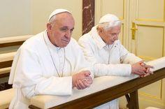 Pope Francis with Pope Emeritus Benedict XVI.