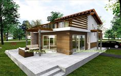 Discover recipes, home ideas, style inspiration and other ideas to try. Solar House, Prefab Homes, Architect Design, House In The Woods, Bed And Breakfast, Luxury Homes, Beautiful Homes, House Plans, Pergola