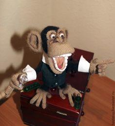 "Купить Мастер-класс ""Мафиози Банано"" - коричневый, 2016 год обезьяны, Мафия, гангстеры, hostessy"