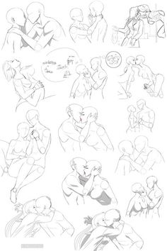 FLIRT poses by Precia-T.deviantart.com on @DeviantArt