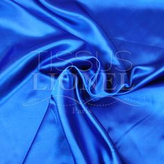 SATIN UNI BLEU ROYAL, LARGEUR 150 CM, 100% POLYESTER