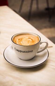 Cappuccino. Sterzing, Südtirol, Italy.