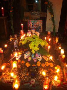Ofrenda (altar) for Dia de Los Muertos