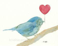 Watercolors-bird stencil