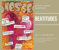 grade students celebrate a milestone every year. Beatitudes, Sunday School Crafts, Help Teaching, 5th Grades, Faith, Pure Products, Activities, Children, Ministry