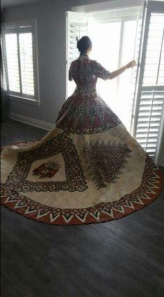 Tongan Ngatu Wedding Dress