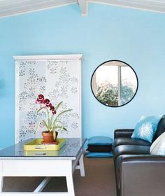 Before hanging a mirror, consider what it will reflect (preferably not a blank wall).