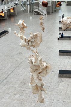 Beautiful Ornamental Paper Art by Peter Gentenaar Abstract Sculpture, Sculpture Art, Paper Folding Designs, Art Assignments, Shrink Art, Paper Artwork, Dutch Artists, Art And Architecture, Installation Art