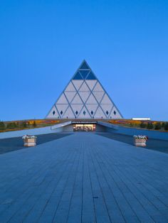 Kazakhstan, Astana, Palace of Peace and Reconciliation Pyramid Designed by Sir Norman Foster Photographic Print by Jane Sweeney at AllPosters.com
