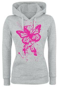Splatter Butterfly huppari koko XL 15,99e Hoodies, Sweatshirts, Butterfly, Graphic Sweatshirt, Sweaters, Fashion, Moda, Fashion Styles, Sweater