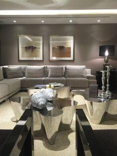 Living room in Atrium Building  - London | SISSY FEIDA INTERIORS