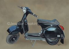Vespa ~ Motorbike / scooter art, I work from your own photo, commissions taken…