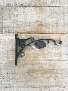 Hook Plant Hanger Galvanized Metal Wall Hook Wall Mount Plant Hook Decorative Hook Indoor Plant Hanger Black Plant Hook Cottage Chic Boho by TheDustyOldShack on Etsy
