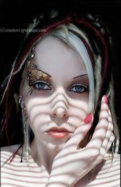 Steampunk makeup idea