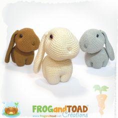 Happy, Hippy & Hoppy - Rabbits Amigurumi Pattern