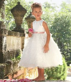 8ae445b84a8 tulle meringue girls dress - Here comes the charm. Tiers of soft tulle are  light and ethereal