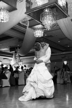 First dance from a floor view-wedding