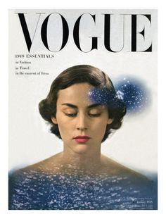 Vogue Cover - January 1948  Herbert Matter
