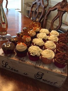 Another view of wedding cupcake tasting