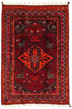 Lori - Bakhtiari Persian Carpet  | unq3474-868 | CarpetU2