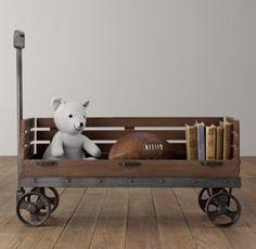 Baby Boy - wagon instead of a bookshelf or for toy storage.
