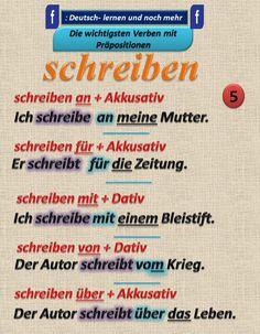 Duits - Deutsch - schreiben - Kasus - naamval - Präpositionen - naamval