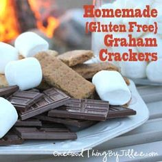 "Last week I posted about DIY Fire Starters and our ""s'mores by the fire"" night! Mmmm….I had forgotten how much I like s'mores! It's been a few years since we've had them because I've always felt it wouldn't be fair to my son Kell who has to eat a gluten-free diet. Darn graham crackers! It's …"