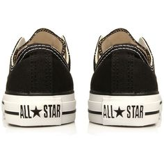 Converse Converse black 'chuck taylor ox' trainers ($60) ❤ liked on Polyvore featuring shoes, sneakers, converse, scarpe, kohl shoes, black shoes, converse sneakers, black trainers and converse shoes
