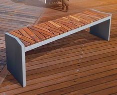 45 Best DIY Outdoor Bench Ideas for Seating in The Garden Concrete Furniture, Urban Furniture, Street Furniture, Metal Furniture, Unique Furniture, Rustic Furniture, Furniture Design, Outdoor Furniture, Furniture Outlet