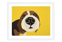 One Kings Lane - Emerging Artists - Rankin Willard, Beagle Dog Home Decor, Cute Beagles, Minimalist Painting, Beagle Puppy, Wow Art, Dog Paintings, Dog Portraits, I Love Dogs, Illustration Art