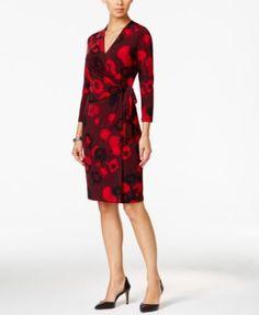 Anne Klein Floral-Print Wrap Dress Macys