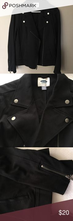 Old Navy Moto Jacket Size Large Excellent conditions 79% Cotton 21% Polyester Old Navy Jackets & Coats
