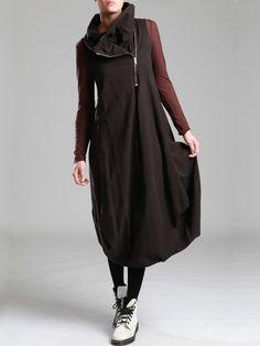 COTTON DRESS WITH PLUSH INSIDE FABRIC - JACKETS, JUMPSUITS, DRESSES, TROUSERS, SKIRTS, JERSEY, KNITWEAR, ACCESORIES - Woman - Syngman Cucala & Lurdes Bergada - Shop Online
