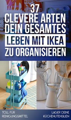 I'm obsessed with ikea and all things organizational. We're definitely spending like a whole day at ikea when we get our own place. 37 Clever Ways To Organize Your Entire Life With IKEA Hacks Ikea, Trones Ikea Hack, Hacks Diy, Diy Organisation, Organising, Organizing Ideas, Organization Station, Ikea Kitchen Organization, Household Organization