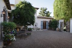 Gravel Backyard Ideas   Spanish Style Outdoor Patios