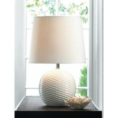 Shop for Textured White Ceramic Table Lamp. Get free shipping at Overstock.com - Your Online Home Decor Outlet Store! Get 5% in rewards with Club O!