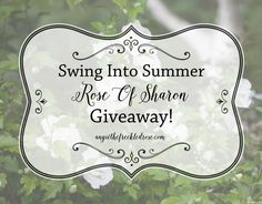 Swing Into Summer Rose Of Sharon Giveaway! | angiethefreckledrose.com