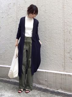 AZUL ENCANTOのカーディガン「【洗濯機で洗える】綿アセテートホールガーメントロングカーディガン」を使ったari☆のコーディネートです。WEARはモデル・俳優・ショップスタッフなどの着こなしをチェックできるファッションコーディネートサイトです。