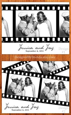 Filmstrip Photo Collage - Wedding Thank You Postcard