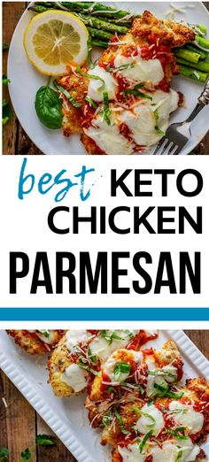 I really want to try new low carb Chicken recipes and this Keto Chicken Parmesan looks so good! I can't wait to cook this easy meal for my family.  It looks like the perfect keto family dinner recipe.  SO PINNING! #kickingcarbs #lowcarb #keto #lchf #ketorecipes #ketochicken Gluten Free Recipes For Breakfast, Healthy Gluten Free Recipes, Gluten Free Dinner, Easy Dinner Recipes, Keto Recipes, Low Carb Chicken Parmesan, Low Carb Chicken Recipes, Keto Chicken, Chicken With Italian Seasoning