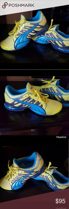 Puma voltaic sneakers Sz.7  ( limited edition) NWT Adorable Puma sneakers in a size 7. Limited edition. Super comfortable with great support! Fun sneakers for sure. Also Victoria's Secret freebies with any purchase💖💖 Puma Shoes Sneakers