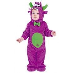 Disfraz de Monstruo de Peluche Morado para Bebé