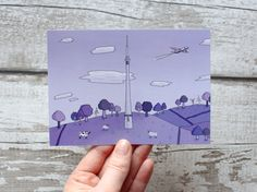 Excited to share the latest addition to our shop: Our limited edition A6 Emley Moor Mast Illustrated Postcard! Very limited stock - only 9 available and no re-prints!!   http://etsy.me/2zJphJC