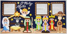 Image result for christmas manger scrapbook layout