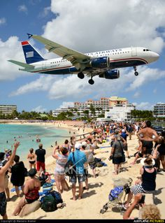 - Photo taken at Philipsburg / St. Maarten - Princess Juliana (SXM / TNCM) in St. Maarten on March Cool Backdrops, Us Airways, Aircraft Pictures, International Airport, Titanic, Military Aircraft, My Dream, Places Ive Been, Caribbean